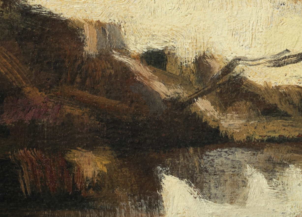 Study after: Camille Corot - Memory of Lake Nemi by M Francis McCarthy (Detail 2)