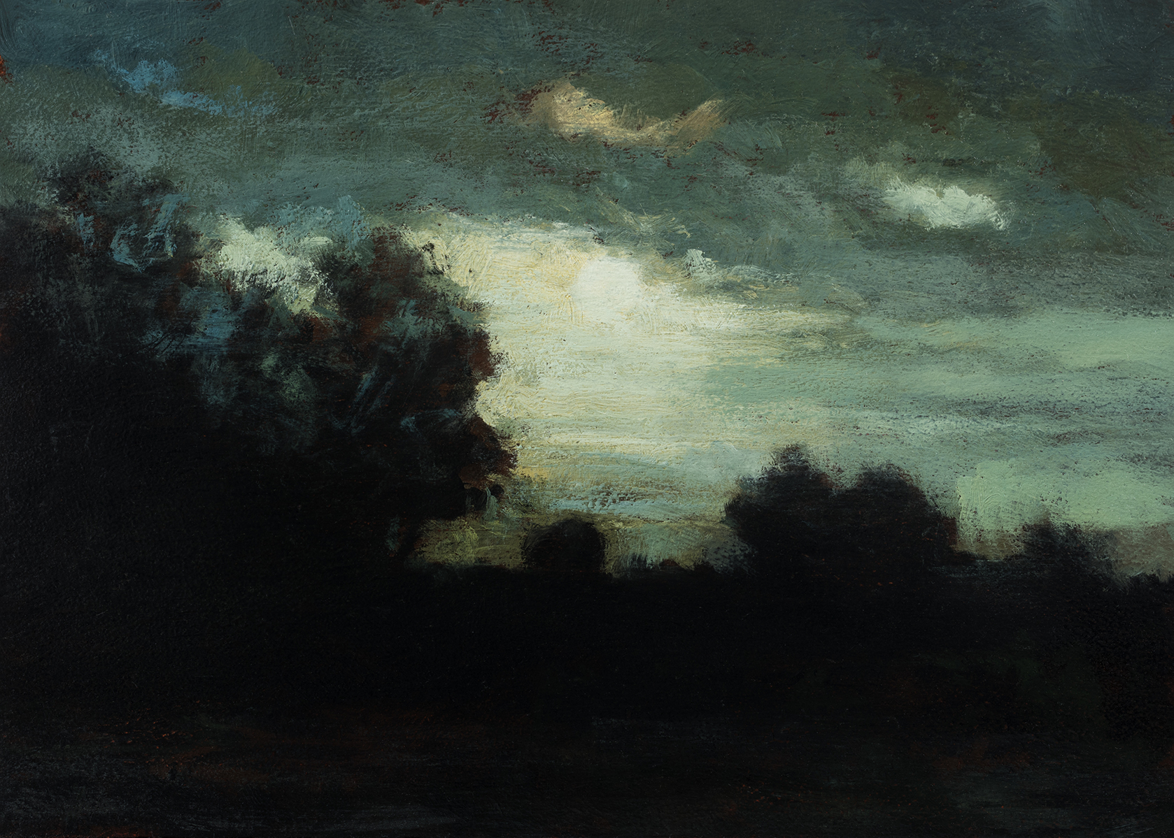 Study after Charles Warren Eaton - Landscape by M Francis McCarthy - 5x7 Oil on Wood Panel