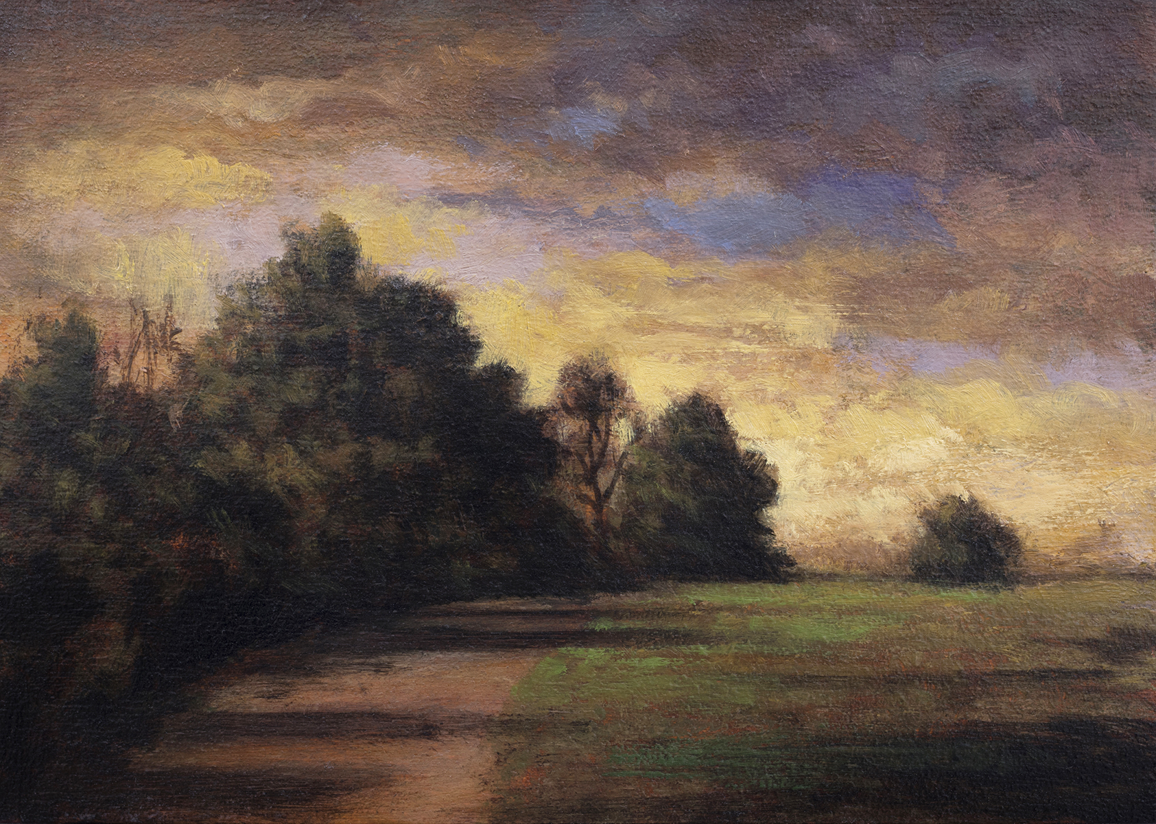 Over the Hill by M Francis McCarthy - 5x7 Oil on Wood Panel