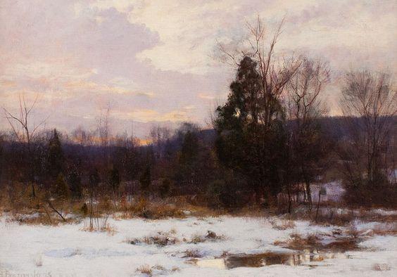 Hugh Bolton Jones - Winter Sunset (Original)