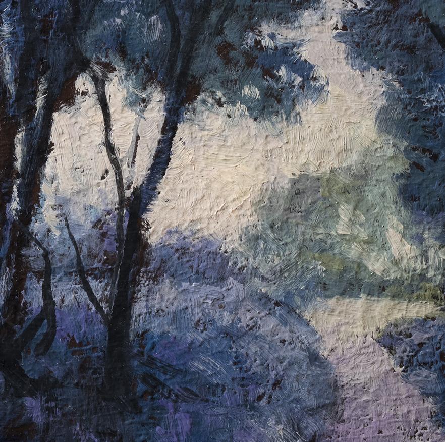 Morning Path by M Francis McCarthy - 6x6 (Detail)