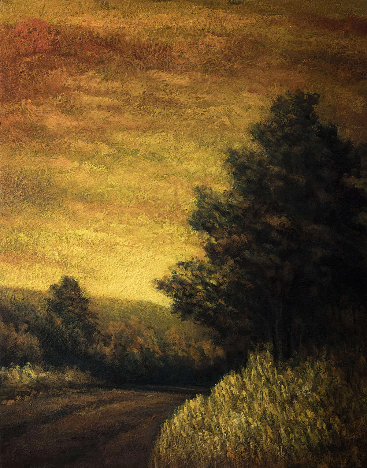 Golden Dusk by M Francis McCarthy - 11x14 Oil on Wood Panel