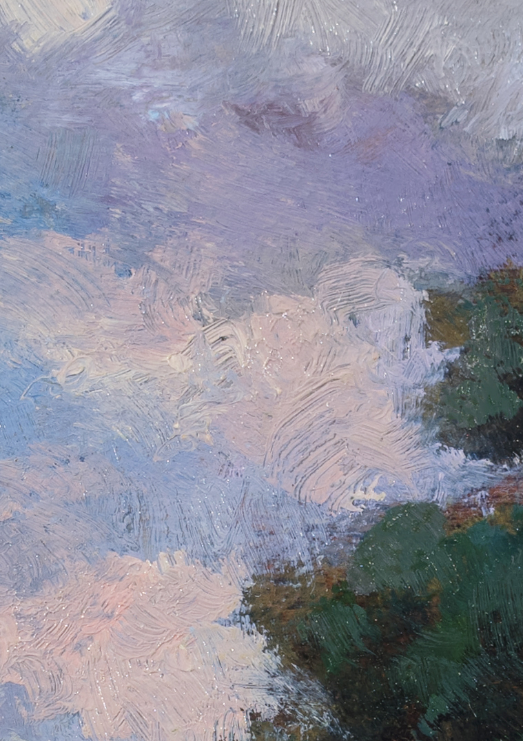 Meadow at Twilight  by M Francis McCarthy - 5x7 (Detail 2)
