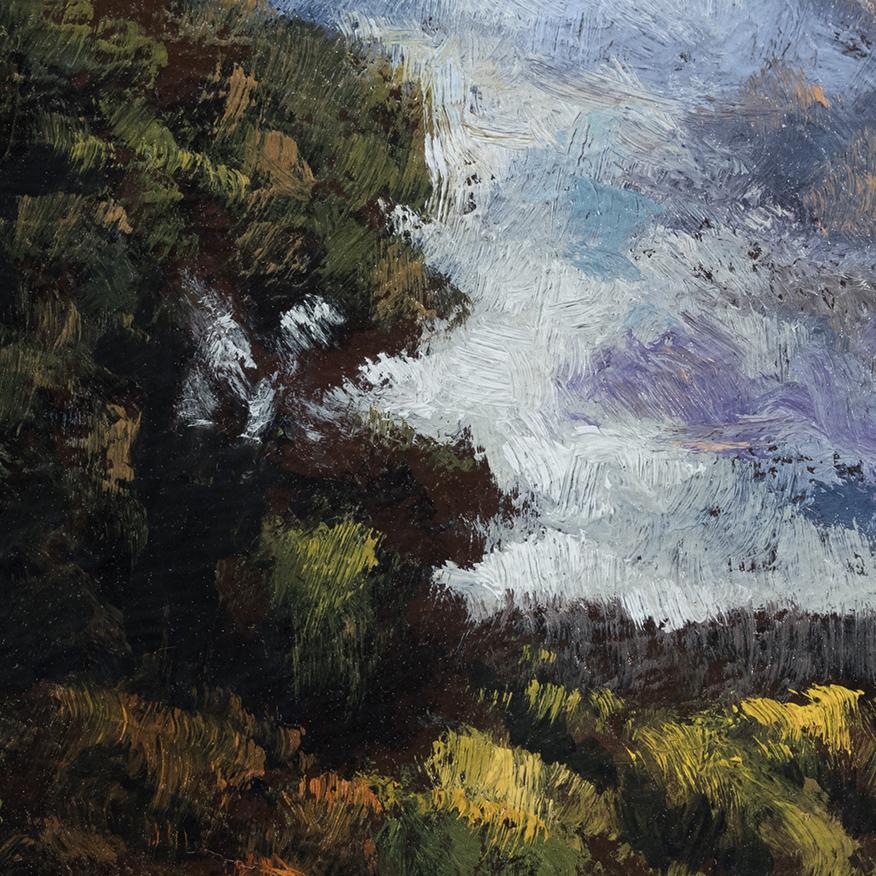 Arcadian Morning by M Francis McCarthy - 3½x3½ (Detail)