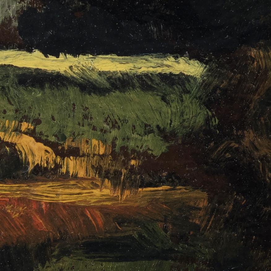 Arcadian Morning by M Francis McCarthy - 3½x3½ (Detail 2)