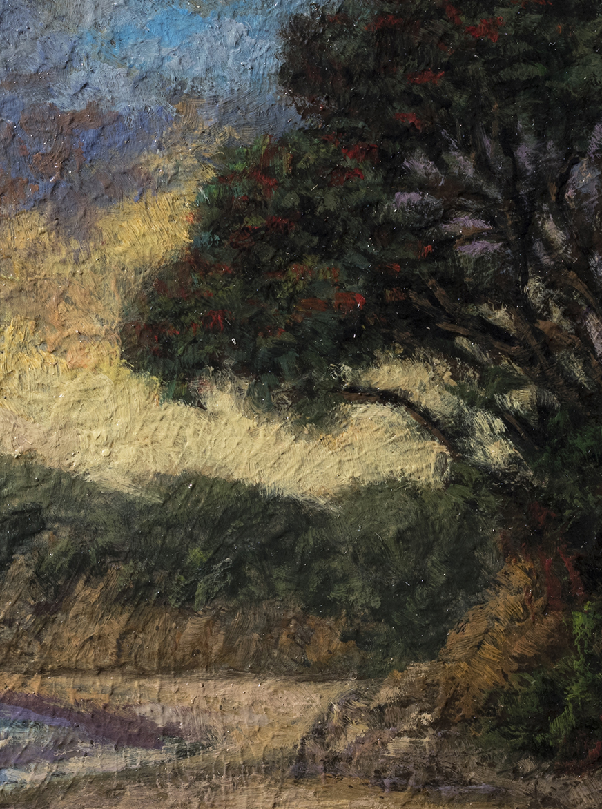 Tree by the Shore by M Francis McCarthy - 6x8 (Detail)