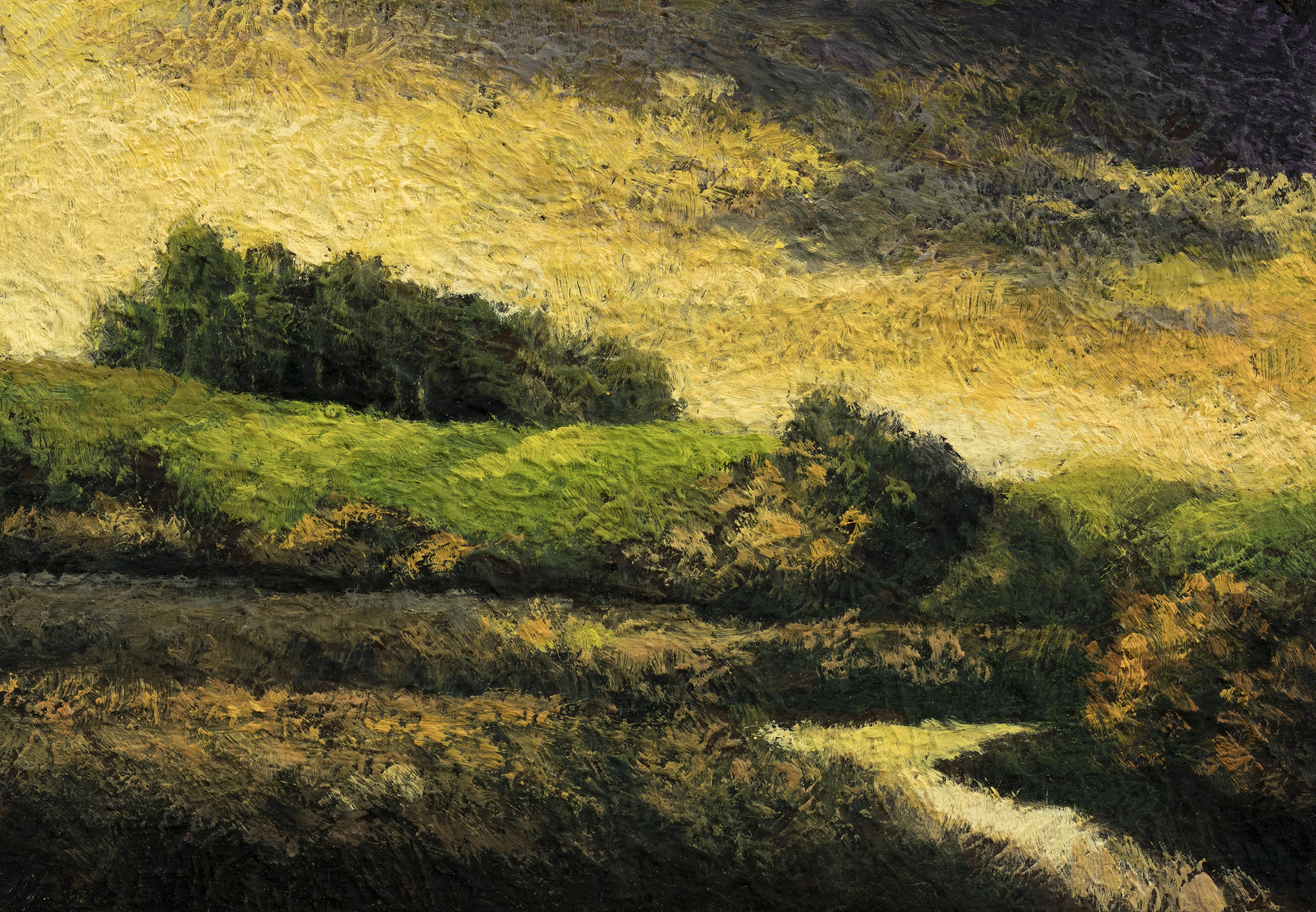 Break of Dawn by M Francis McCarthy - 3½x5 Oil on Wood Panel