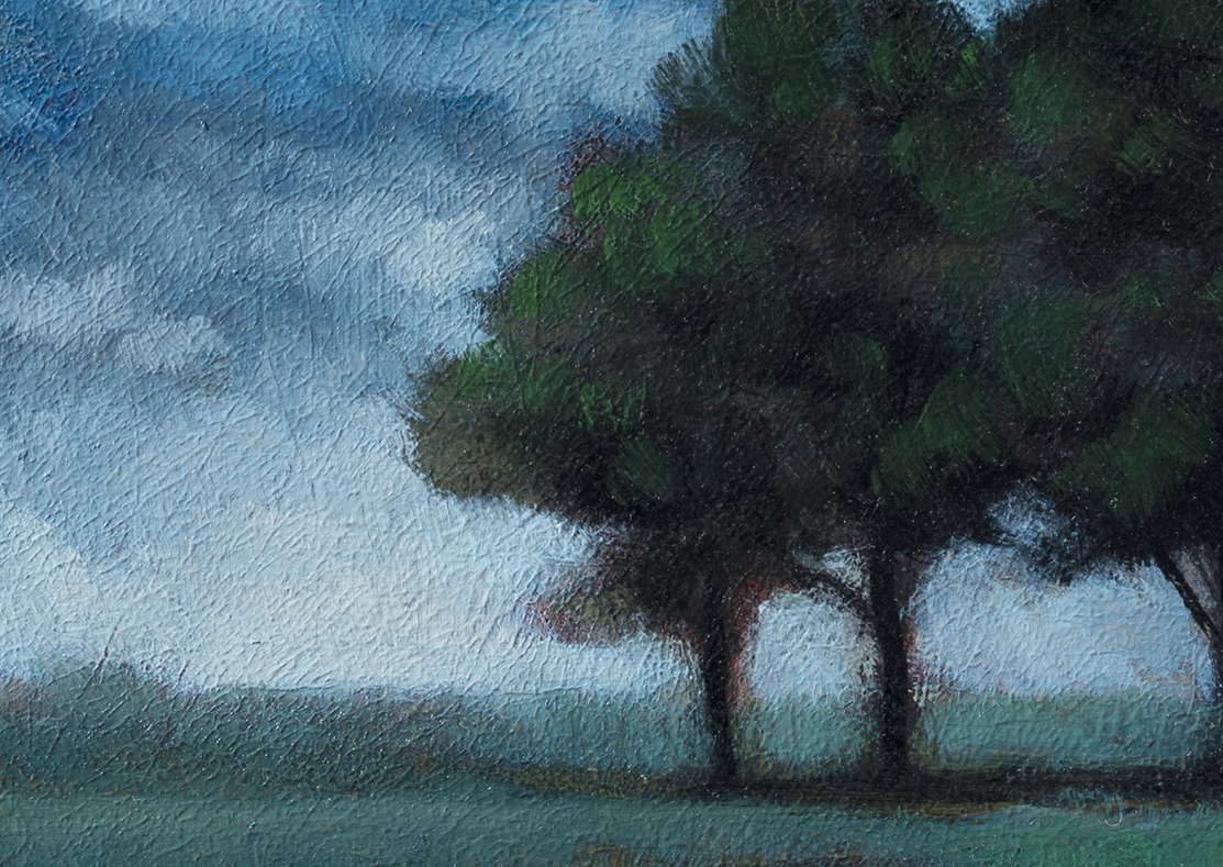 Spring Field by M Francis McCarthy - 5x7 (Detail)