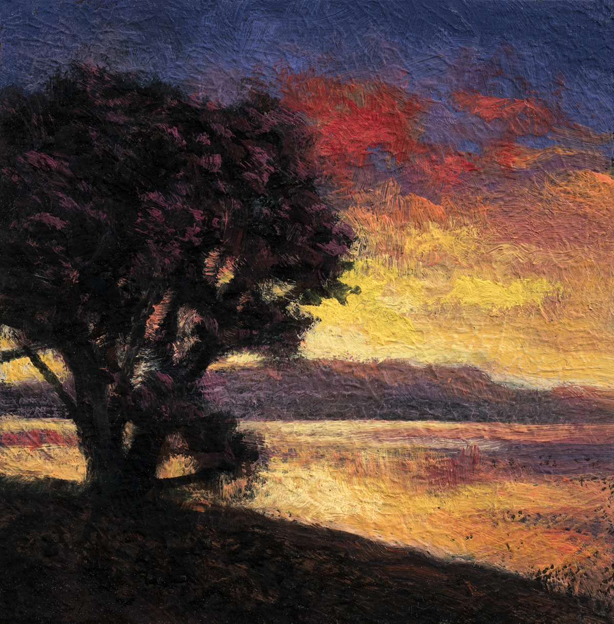 Morning Sojourn by M Francis McCarthy - 3½x3½ Oil on Wood Panel