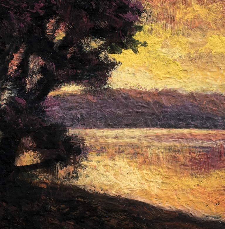 Morning Sojourn by M Francis McCarthy - 3½x3½ (Detail)