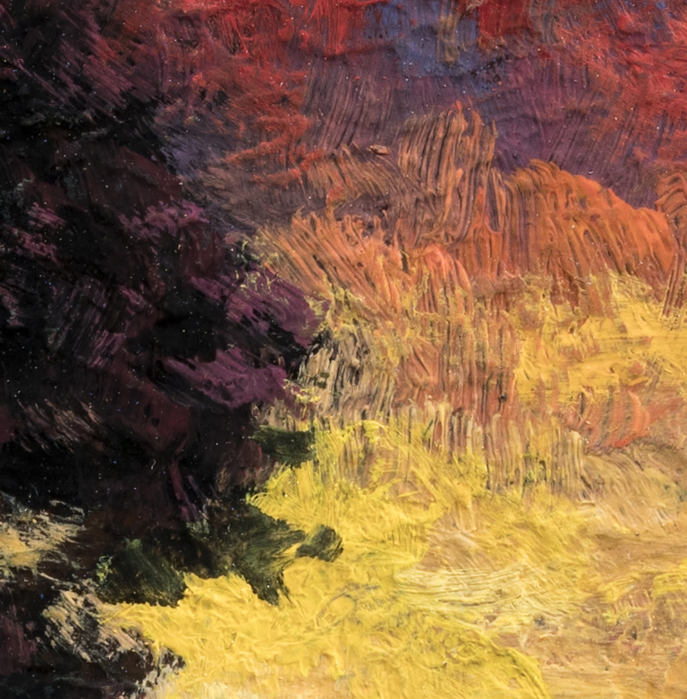 Morning Sojourn by M Francis McCarthy - 3½x3½ (Detail 2)