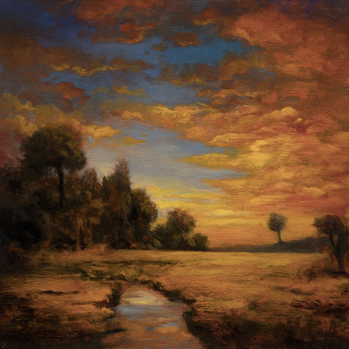 No Man's Land by M Francis McCarthy - 8x8 Oil on Wood Panel