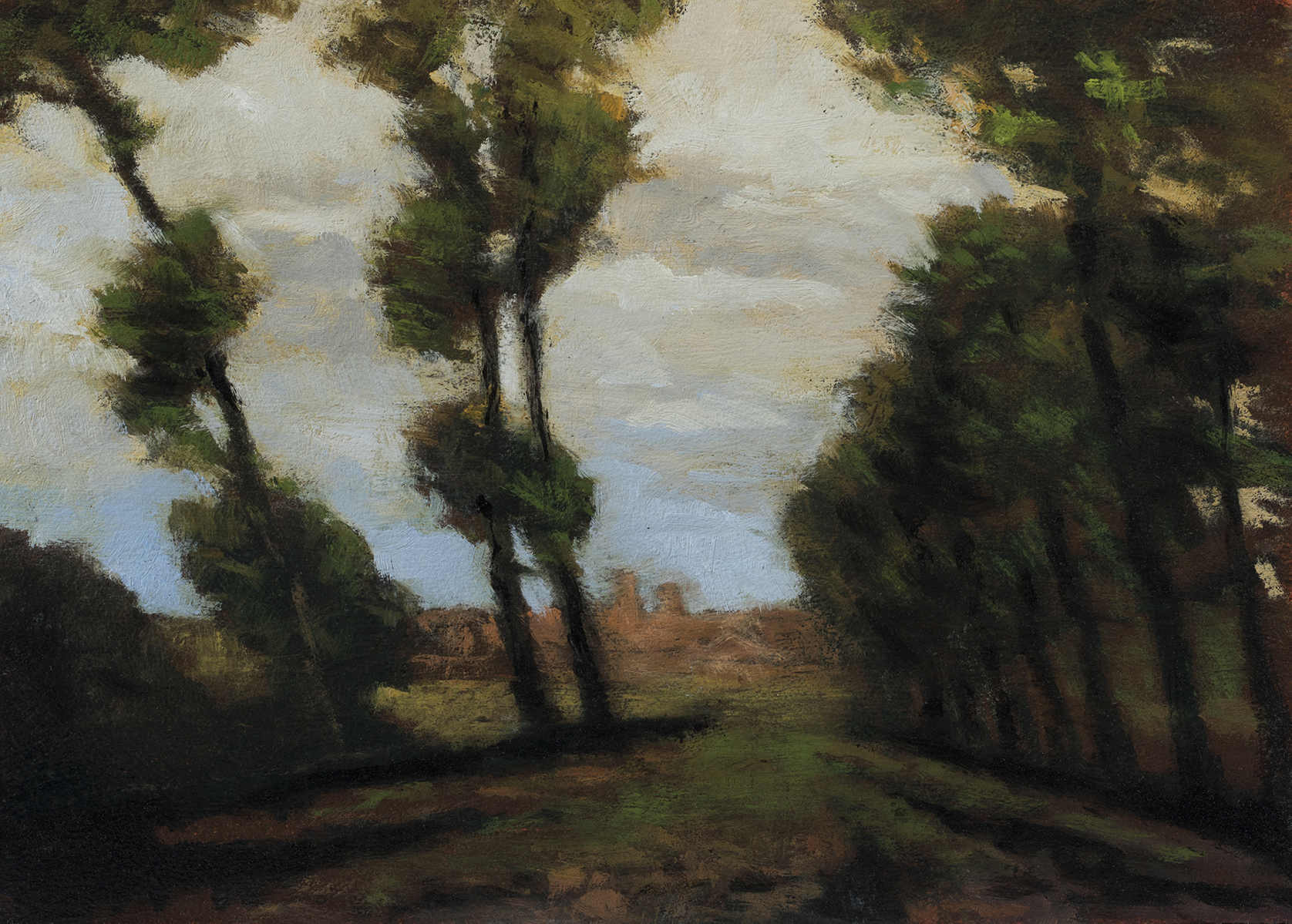Study after: Charles Warren Eaton - Bruges by M Francis McCarthy - 5x7 Oil on Wood Panel