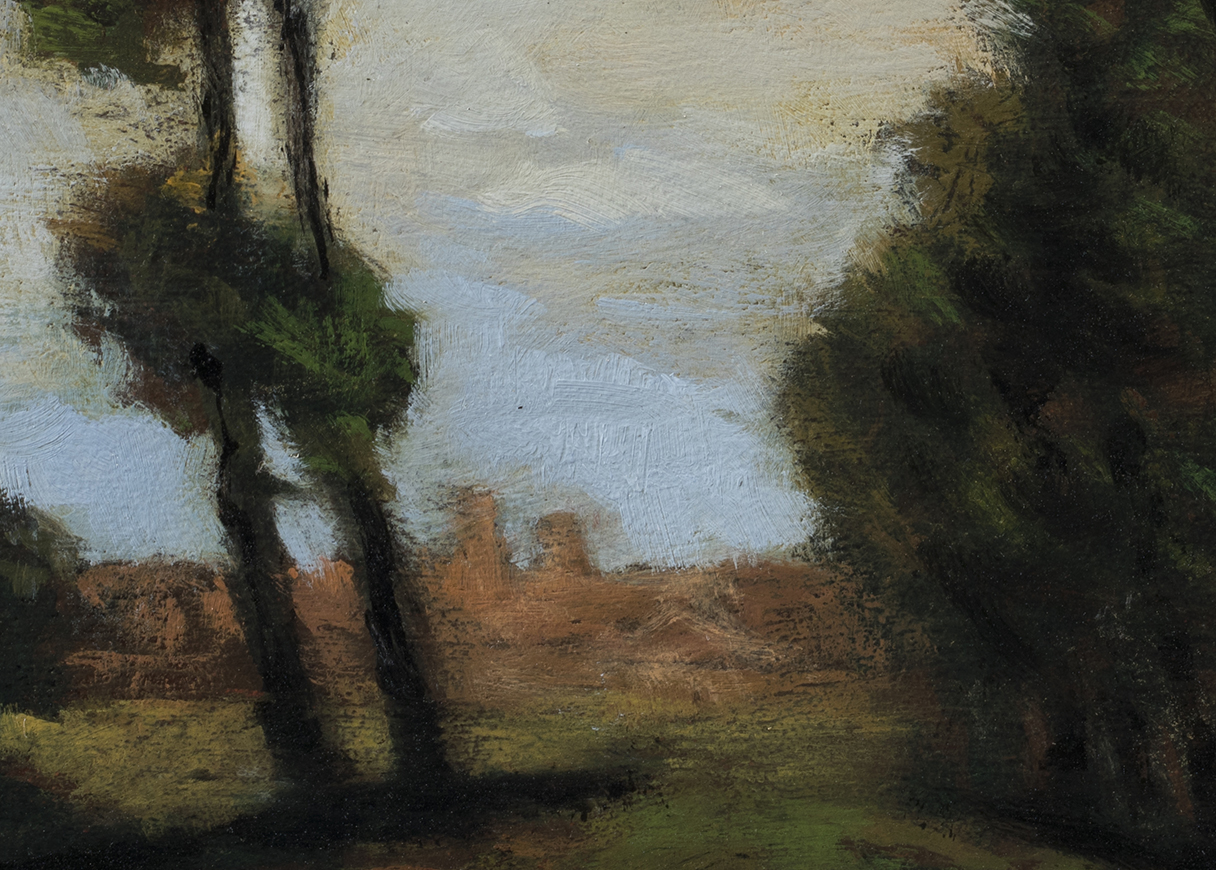 Study after: Charles Warren Eaton - Bruges by M Francis McCarthy - 5x7 (Detail)