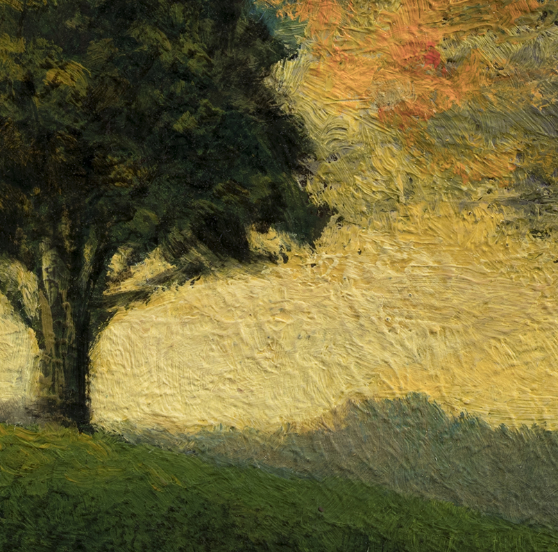 Tree on a Hill by M Francis McCarthy - 3½x3½ (Detail)