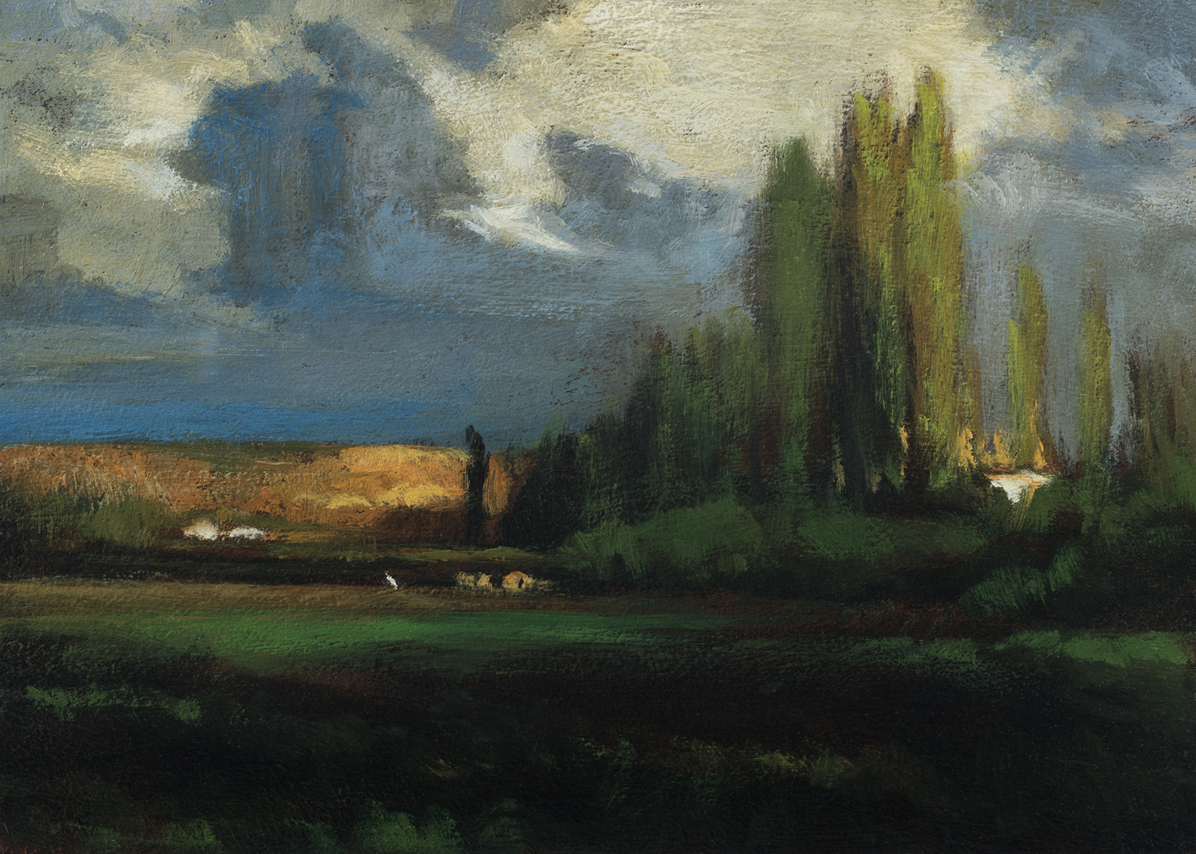 Study after: George Inness - Landscape by M Francis McCarthy - 5x7 Oil on Wood Panel