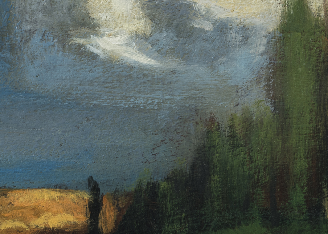 Study after: George Inness - Landscape by M Francis McCarthy - 5x7 (Detail)