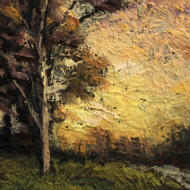 Twilight Field  by M Francis McCarthy - 3½x3½ (Detail)