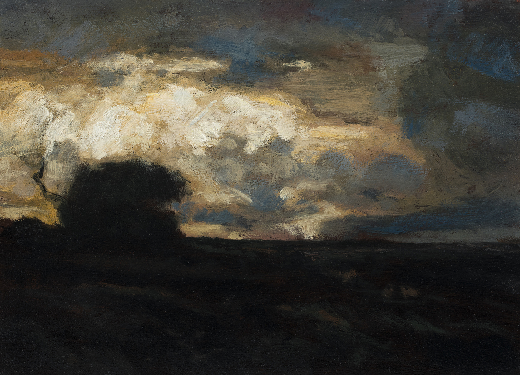 Study after: John Francis Murphy- Landscape by M Francis McCarthy - 5x7 Oil on Wood Panel