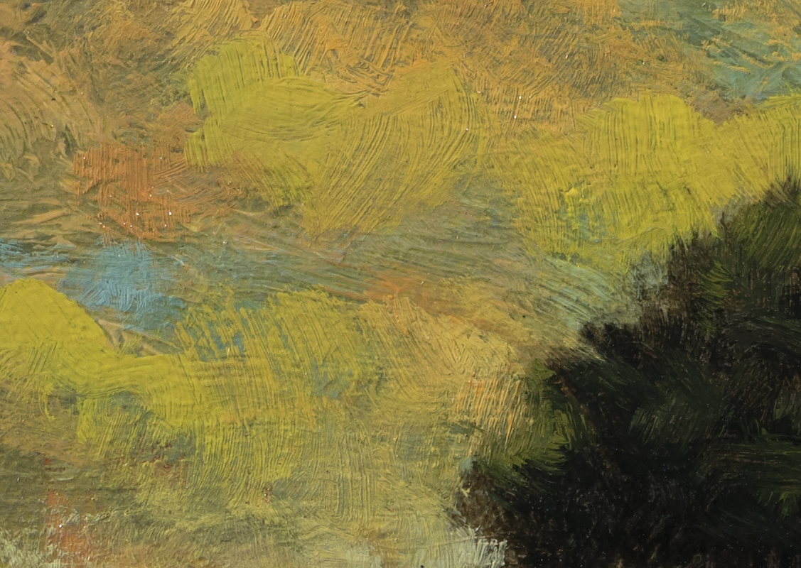 Storm Above the Meadow by M Francis McCarthy - 5x7 (Detail 2)