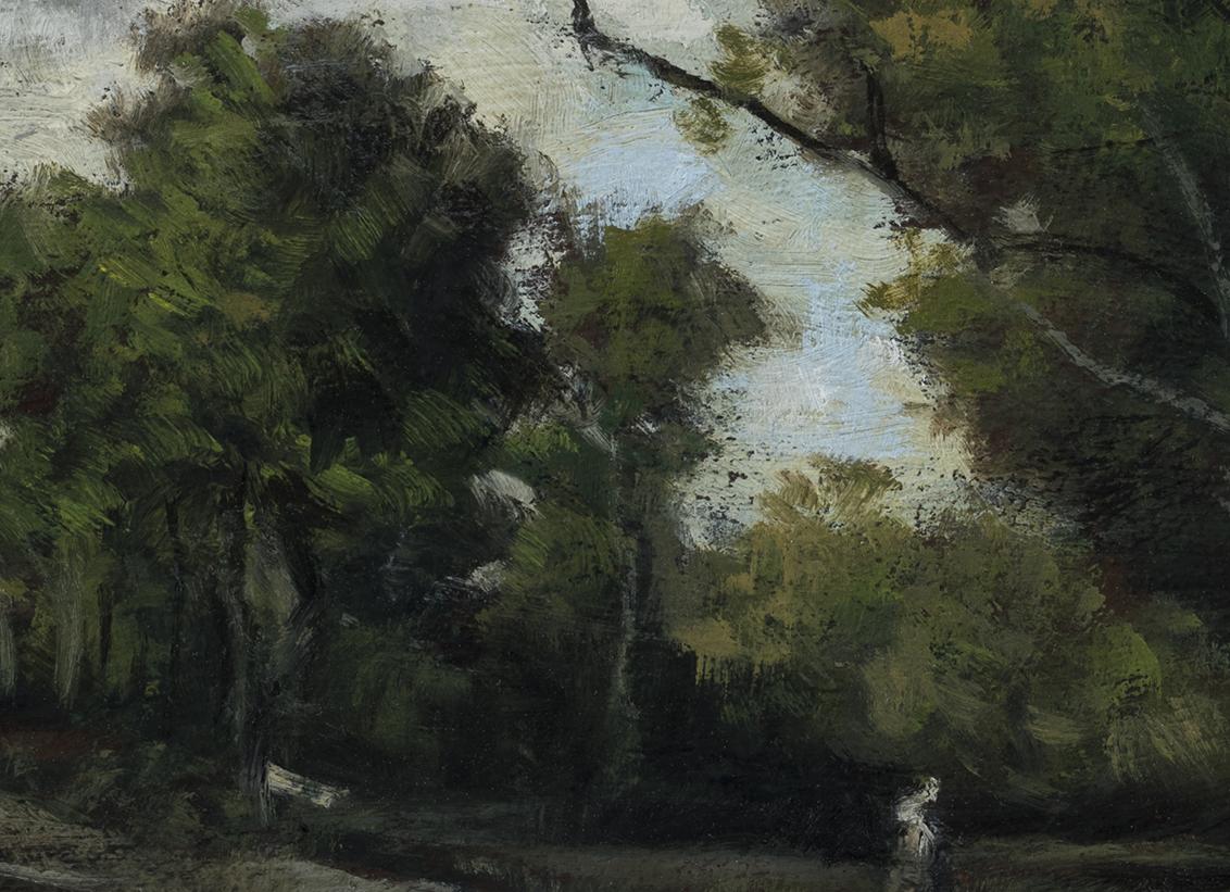 Study after: Leon Richet Foret de Fontainebleau by M Francis McCarthy - 5x7 (Detail)