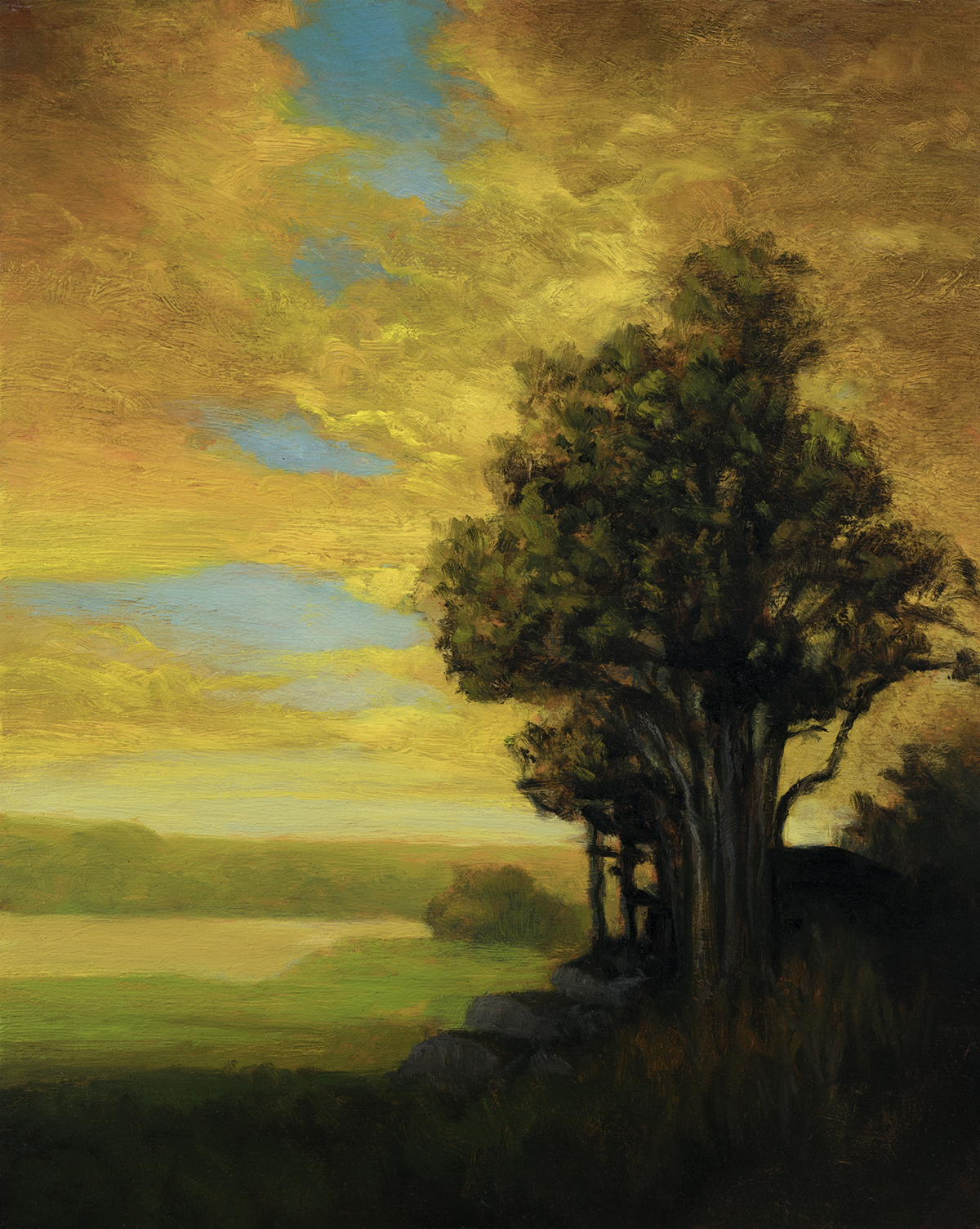 Golden Dusk by M Francis McCarthy - 8x10 Oil on Wood Panel