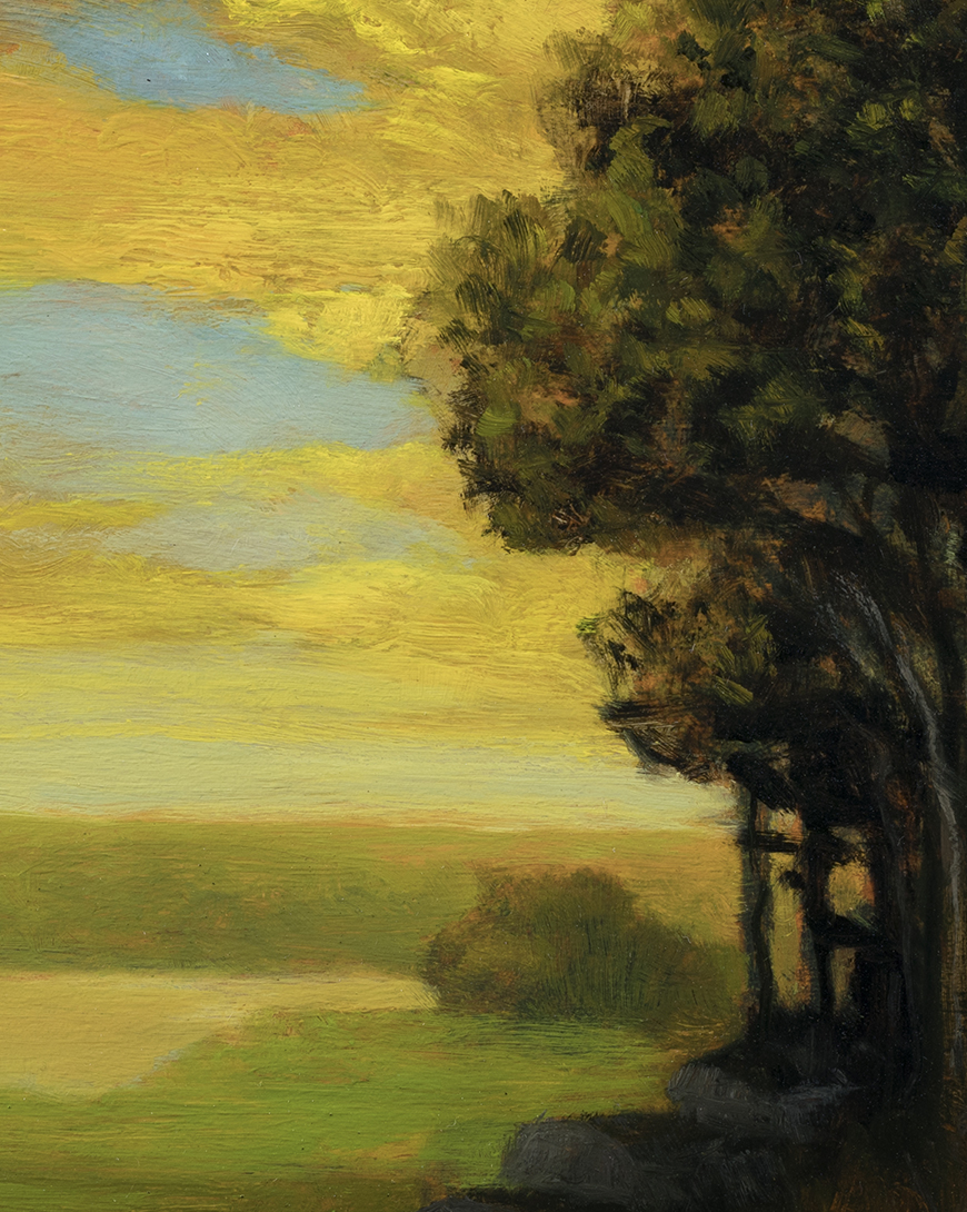 Golden Dusk by M Francis McCarthy - 8x10 (Detail)