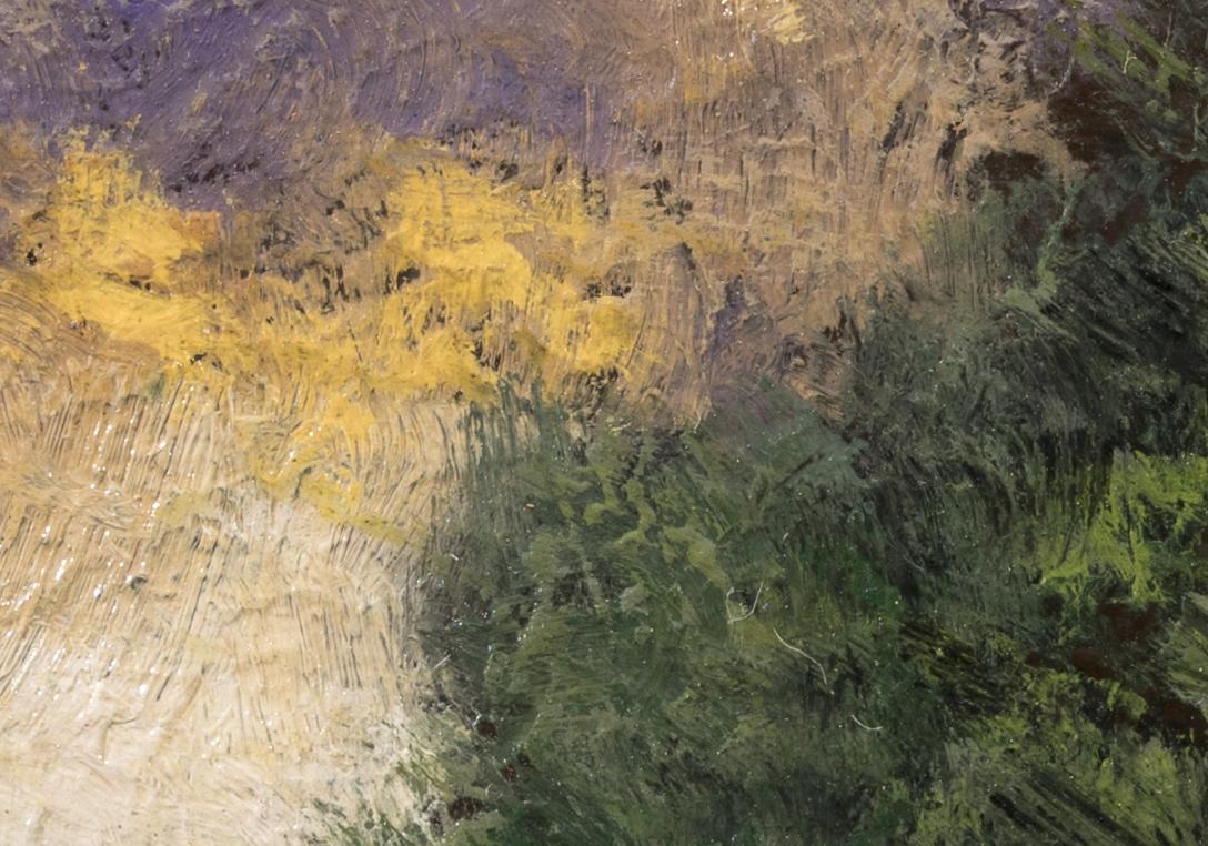 Lakeside Path by M Francis McCarthy - 3½x5 (Detail 2)
