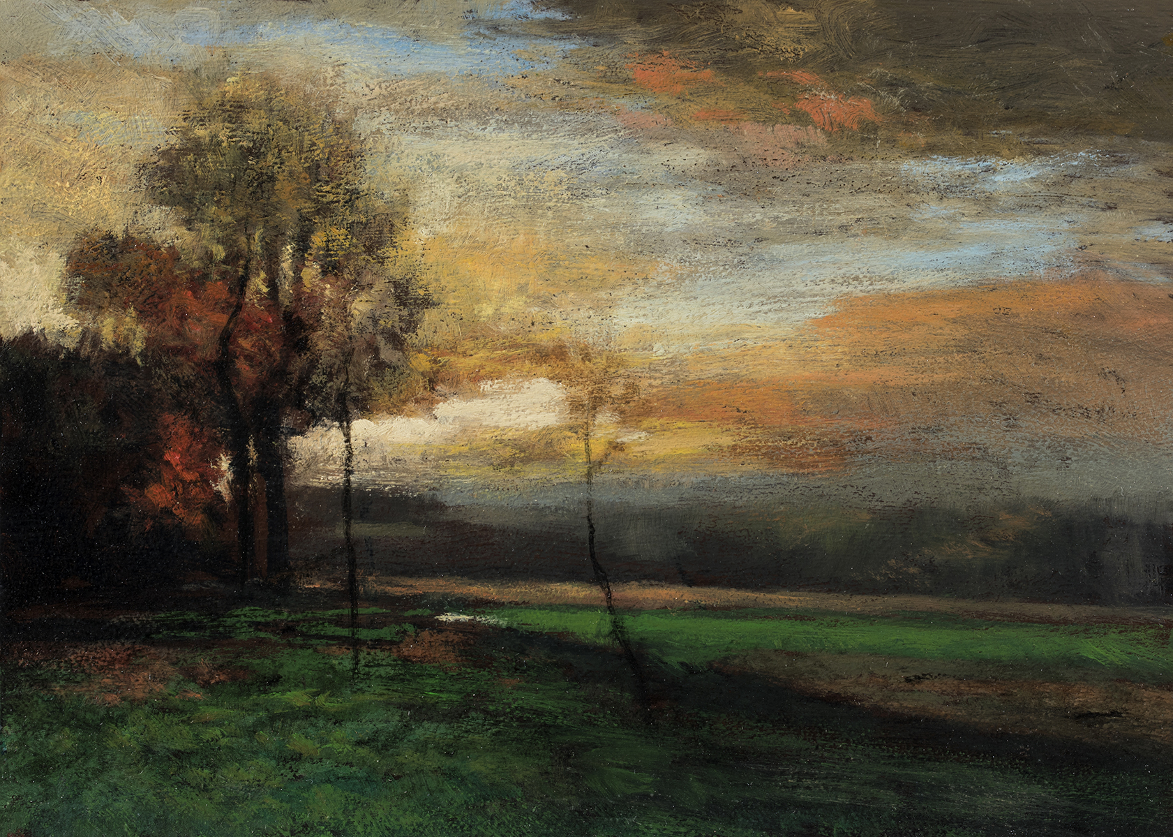 John Francis Murphy Landscapeby M Francis McCarthy - 5x7 Oil on Wood Panel