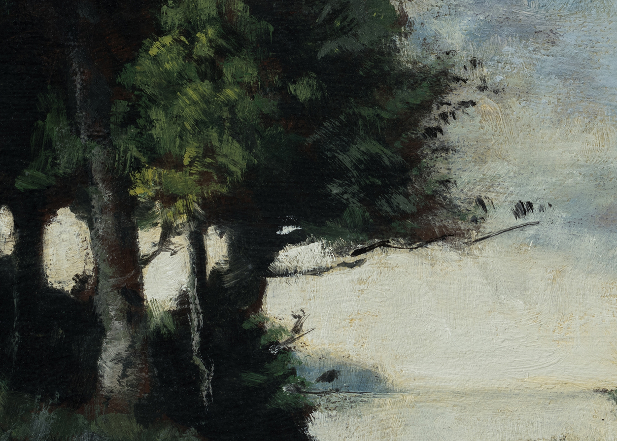 Study after:Paul Trouillebert Shoring the Fishing Boat by M Francis McCarthy - 5x7 (Detail)