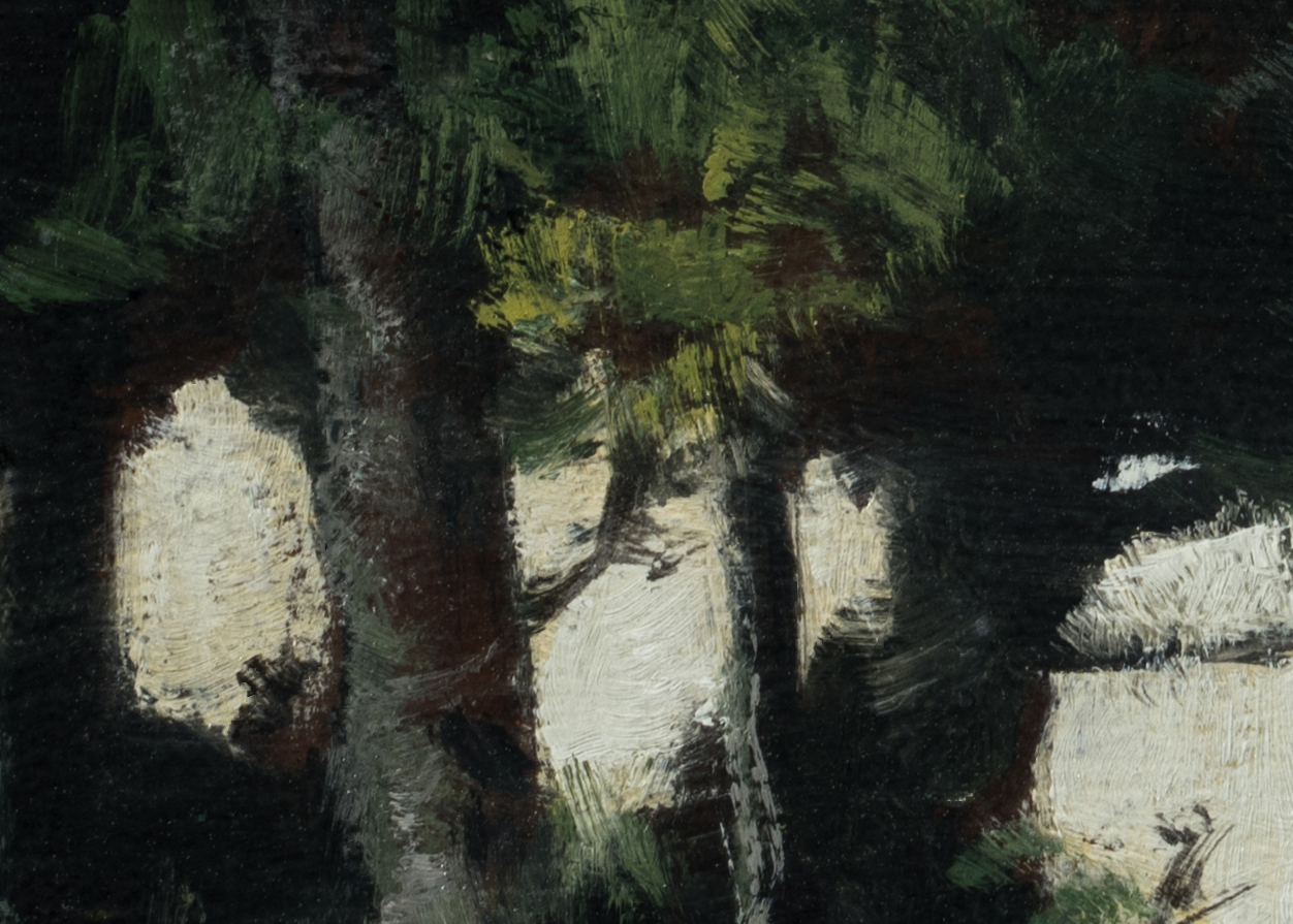 Study after:Paul Trouillebert Shoring the Fishing Boat by M Francis McCarthy - 5x7 (Detail 2)