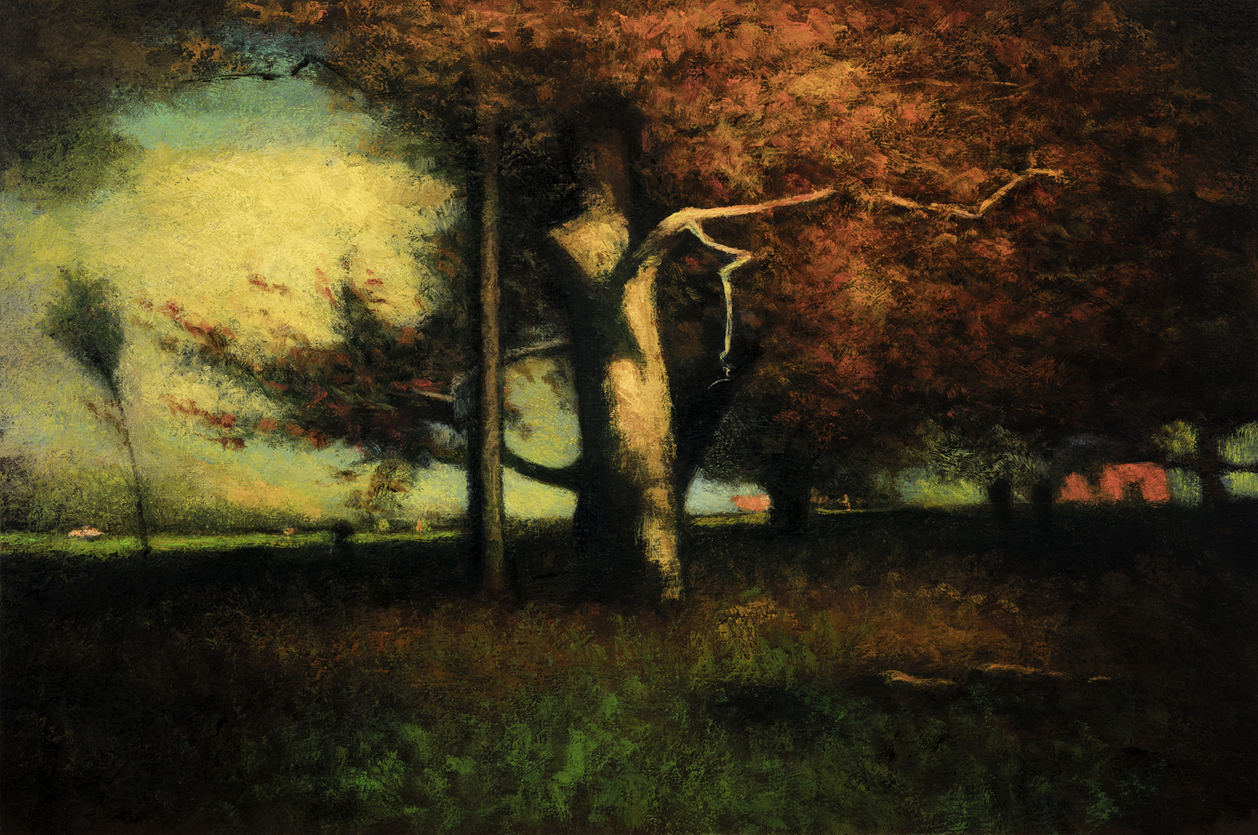Study after: George Inness Autumn Montclair by M Francis McCarthy - 8x12 Oil on Wood Panel
