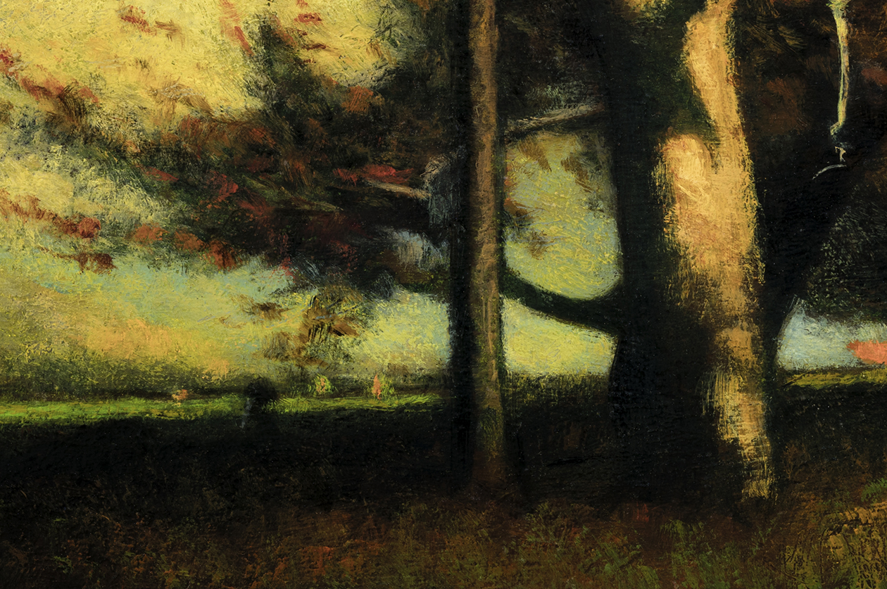 Study after: George Inness Autumn Montclair by M Francis McCarthy - 8x12 (Detail)