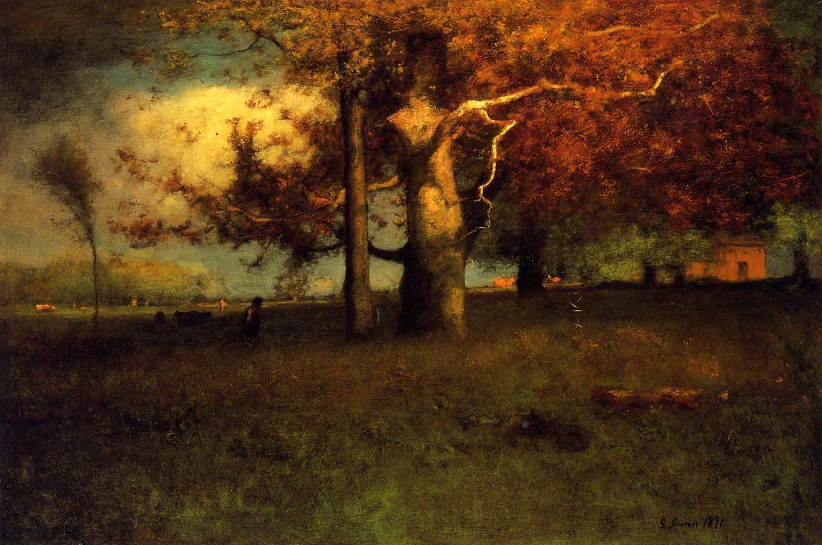 George Inness Autumn Montclair (Original)