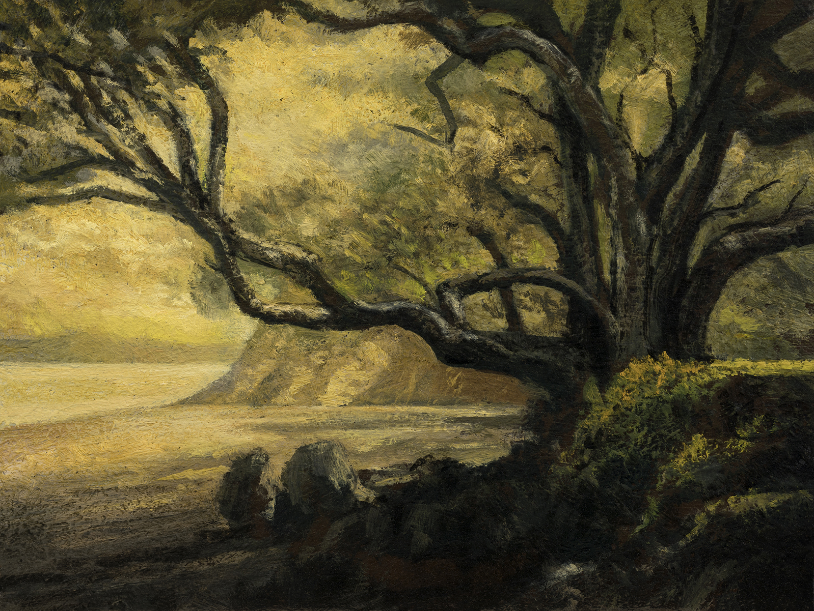In the Shade  by M Francis McCarthy - 6x8 Oil on Wood Panel