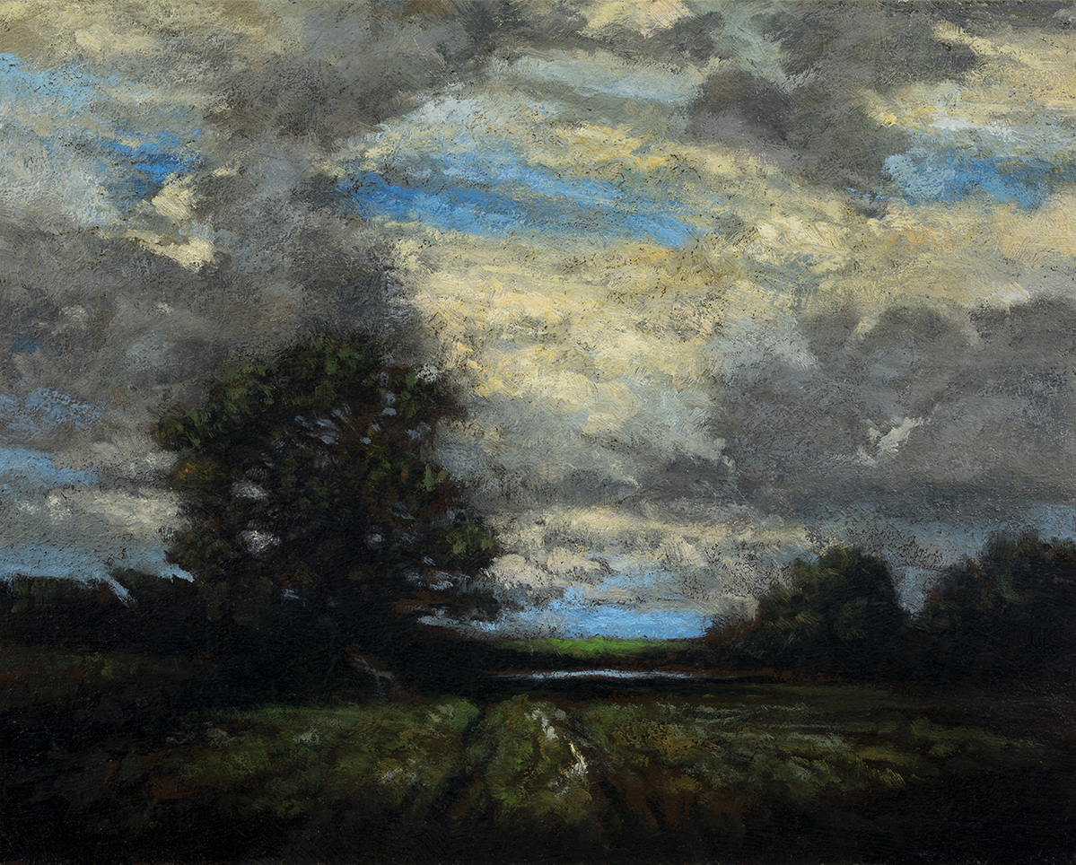 Study after:Alexander Wyant Landscape by M Francis McCarthy - 8x10 Oil on Wood Panel