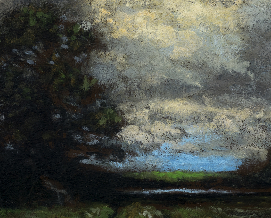Study after:Alexander Wyant Landscape by M Francis McCarthy - 8x10 (Detail)