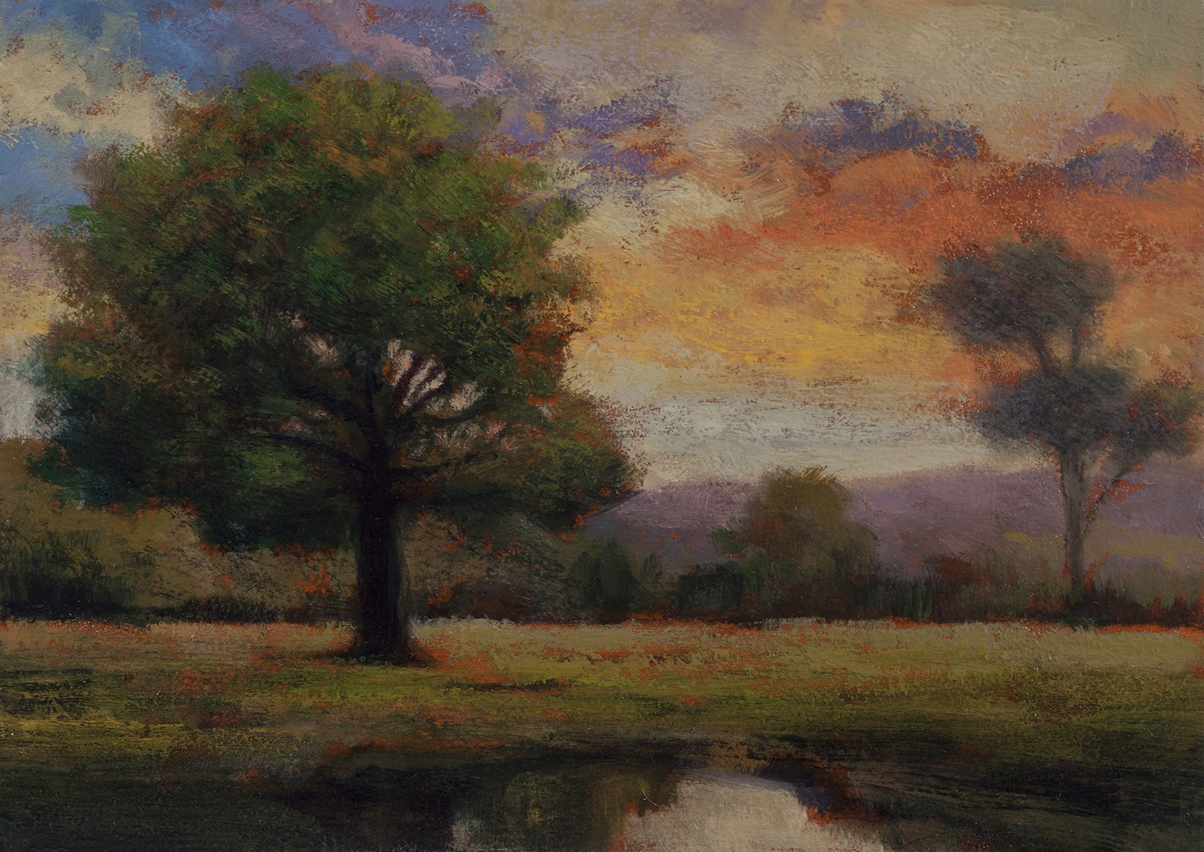 Waning Day by M Francis McCarthy - 5x7 Oil on Wood Panel