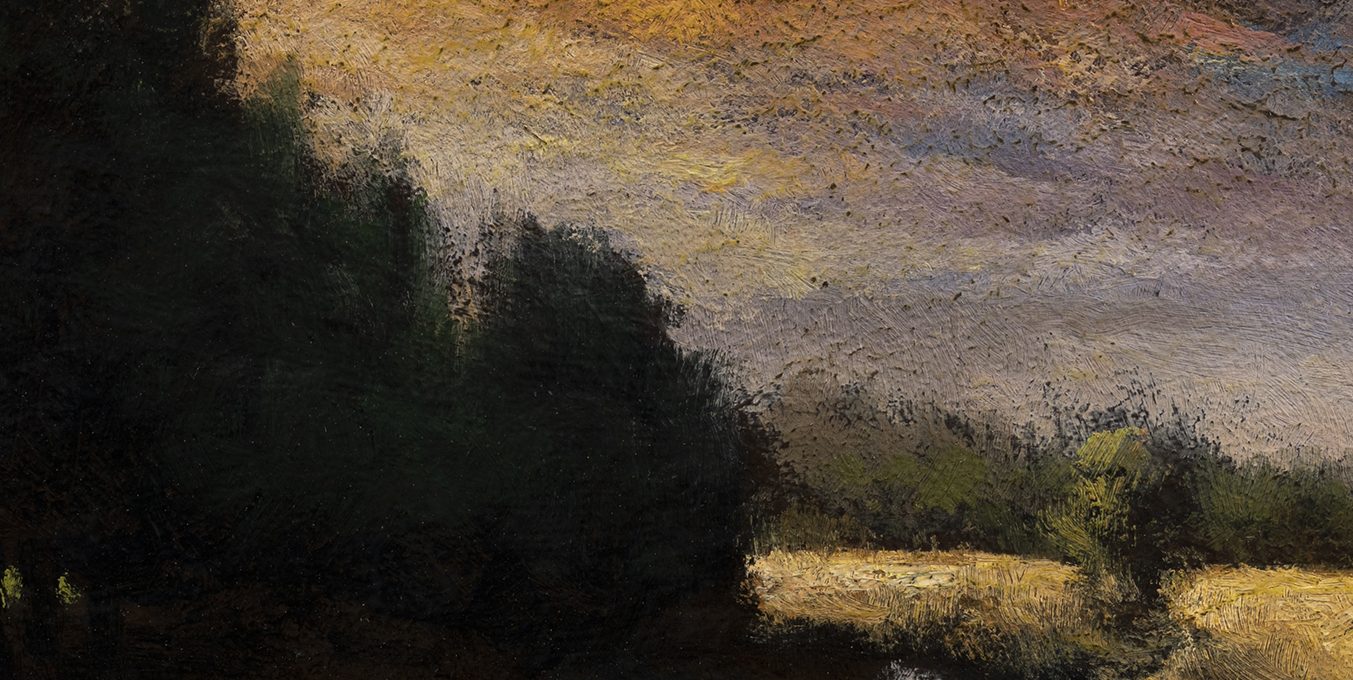 Creek at Sunset by M Francis McCarthy - 5x10 (Detail)