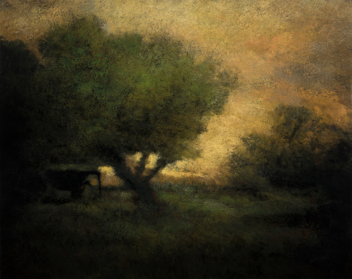 Study after:George Inness - In the Gloaming by M Francis McCarthy - 8x10 Oil on Wood Panel
