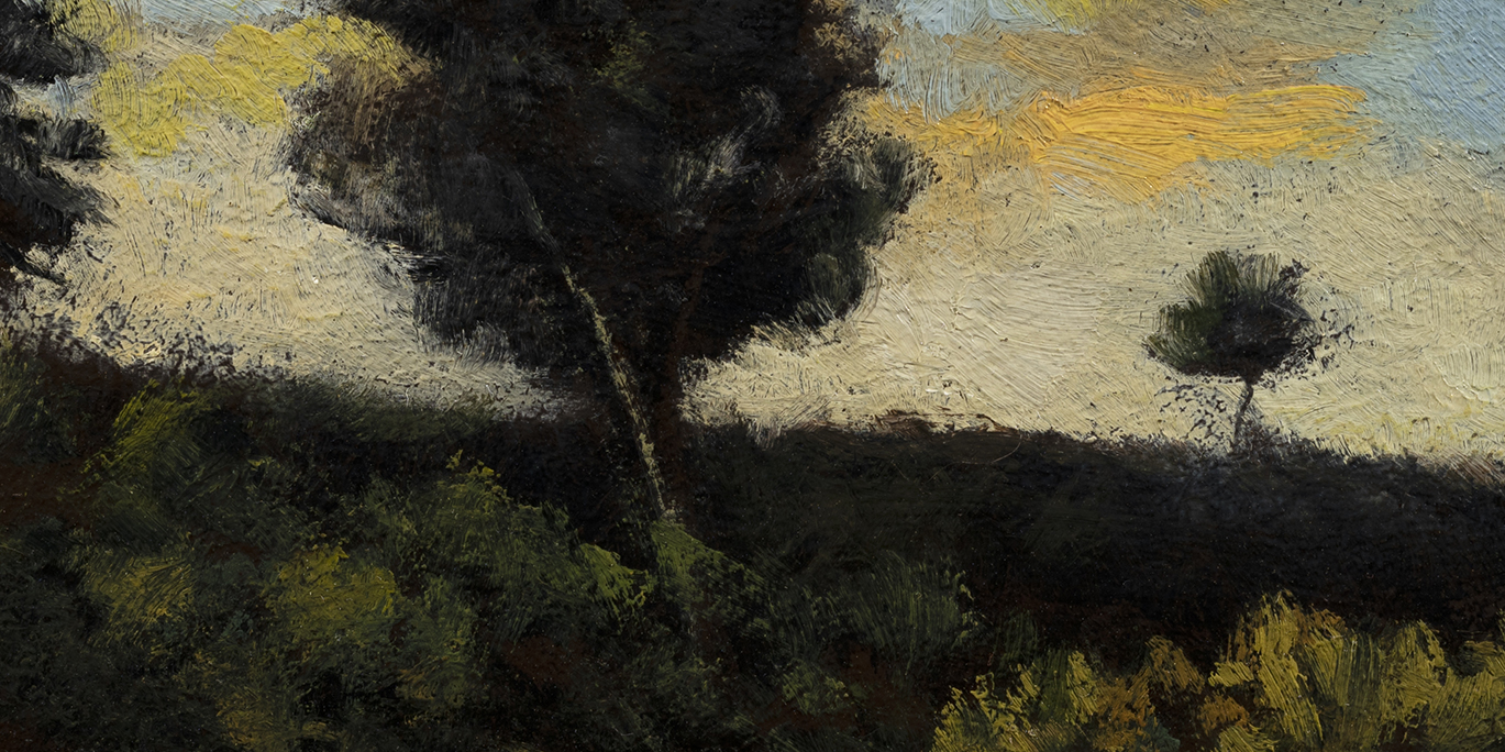 By the Pond by M Francis McCarthy - 5x10 (Detail)