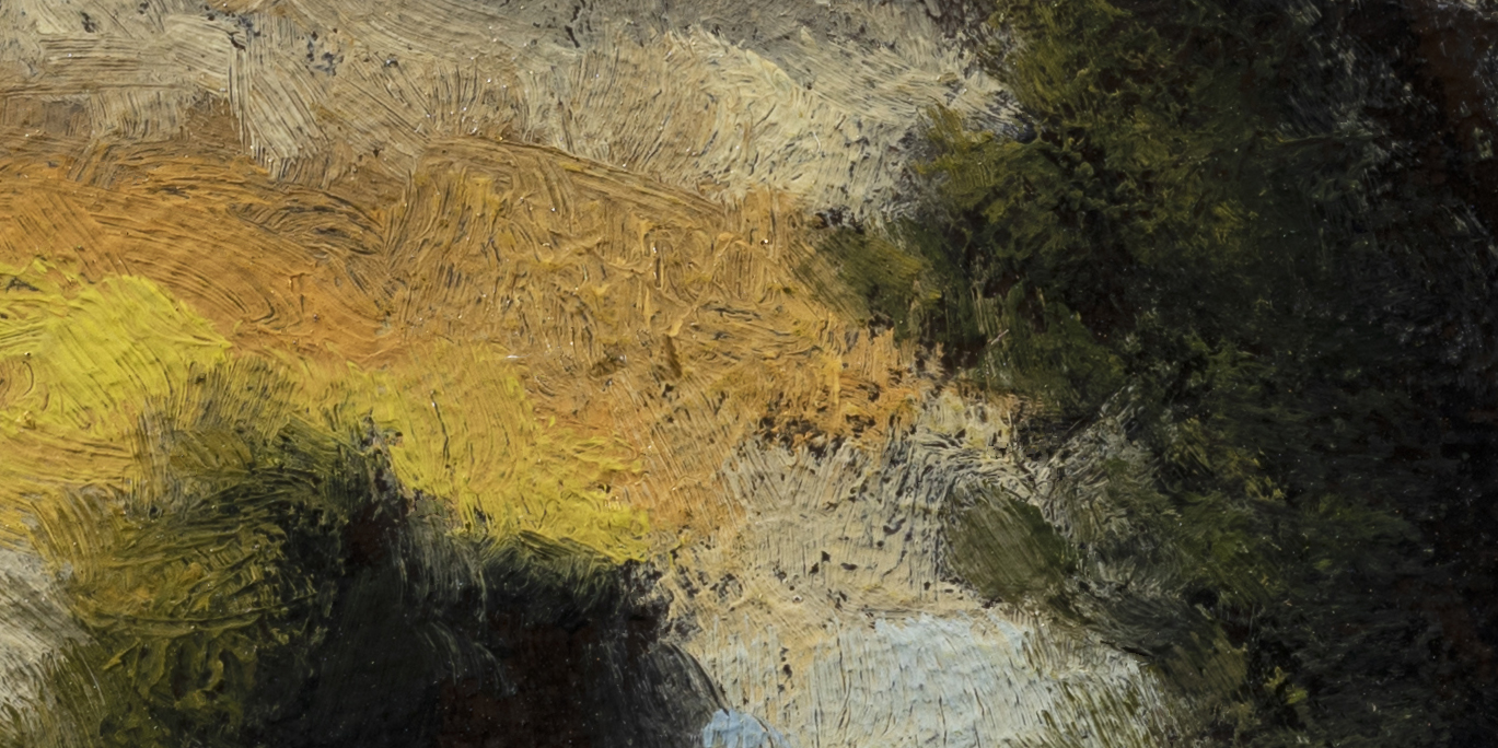 By the Pond by M Francis McCarthy - 5x10 (Detail 2)