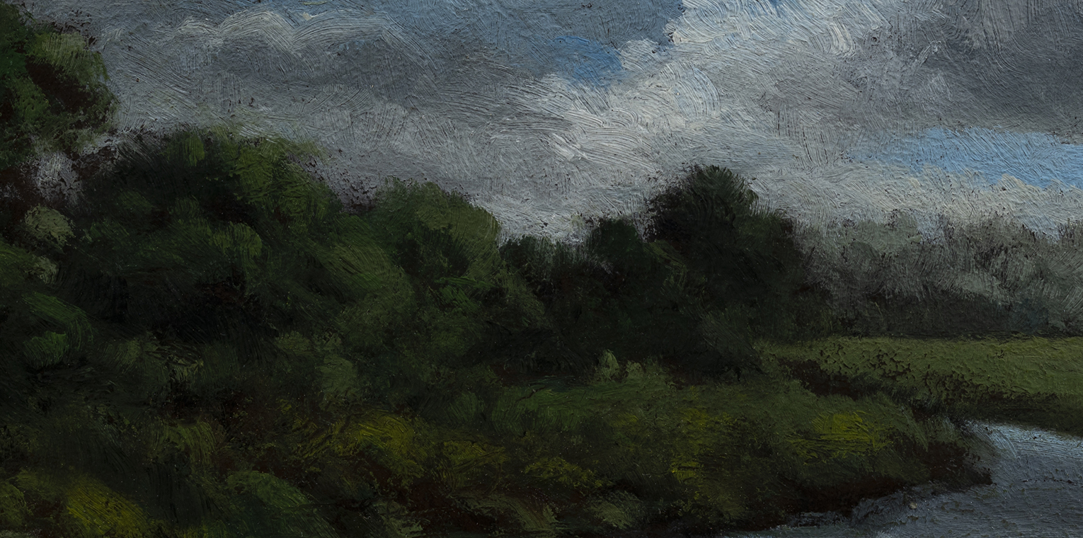 Stream through the Pasture by M Francis McCarthy - 5x7 (Detail)