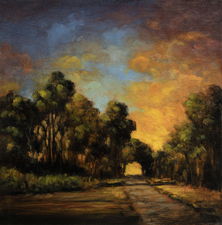 Dawn Pathby M Francis McCarthy - 8x8 Oil on Wood Panel