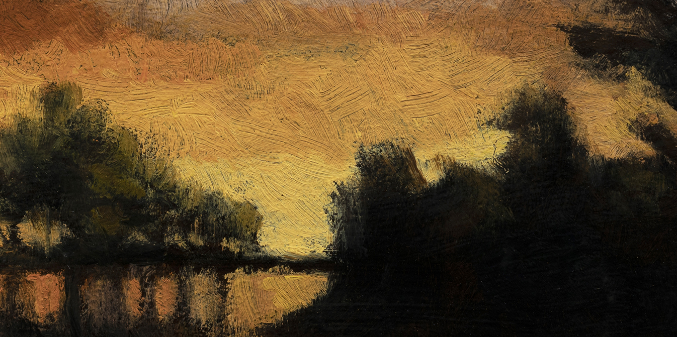 Twilight Pond by M Francis McCarthy - 5x10 (Detail)