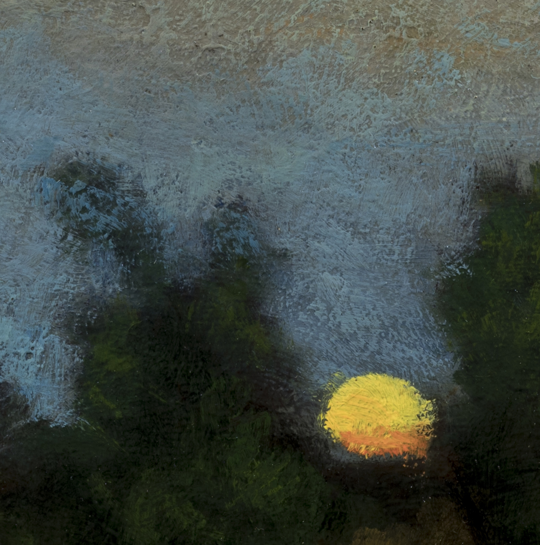 Study after: George Inness - Moonrise by M Francis McCarthy - 8x8 (Detail 2)