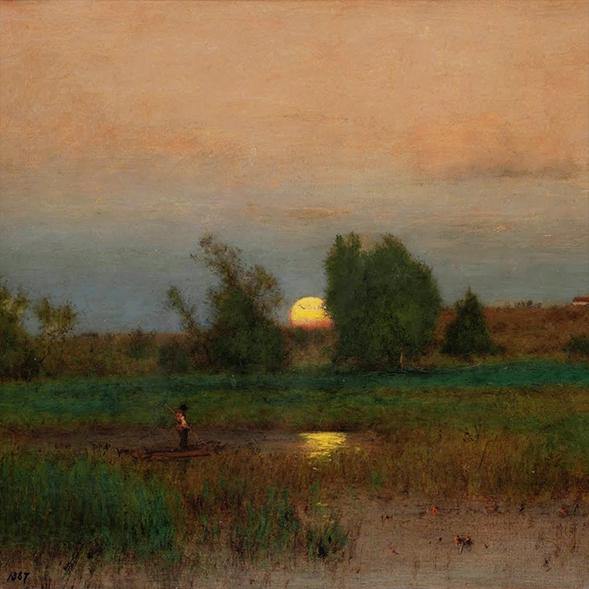 George Inness - Moonrise (Original)