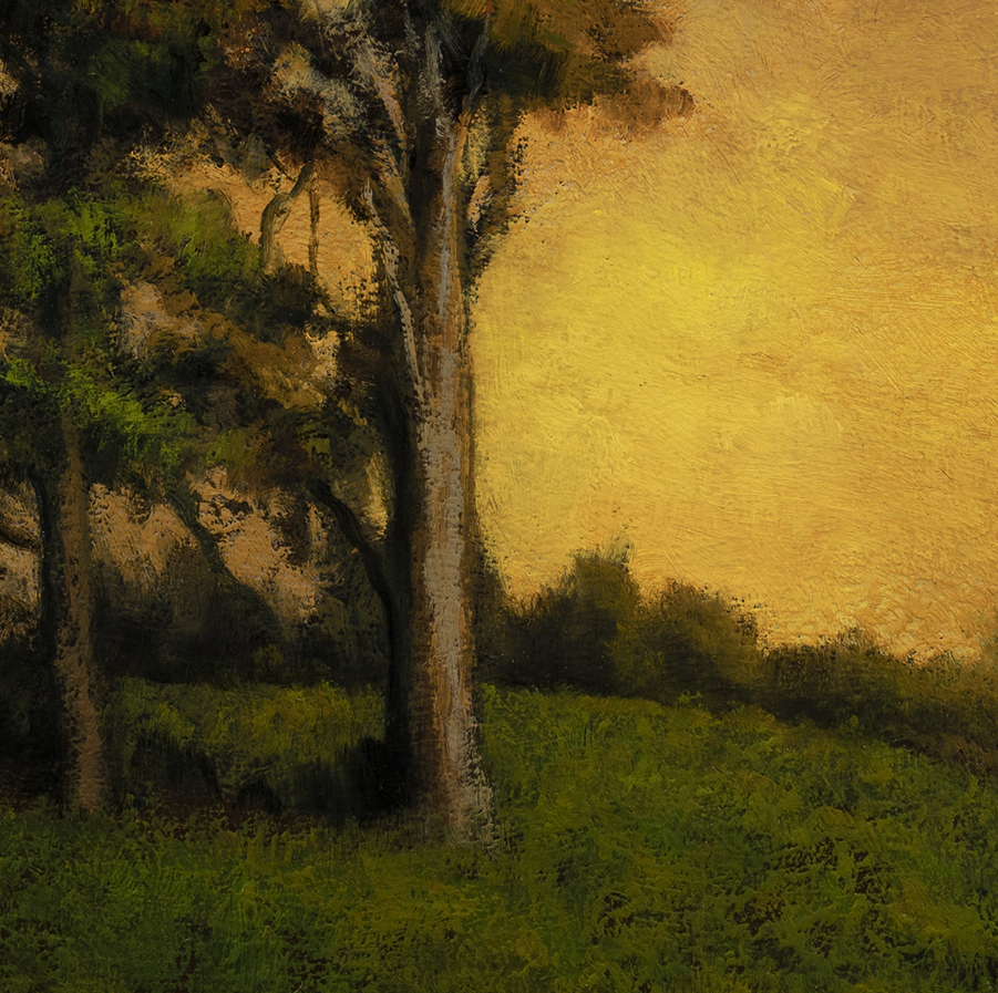 Road to Twilight by M Francis McCarthy - 12x12 (Detail)