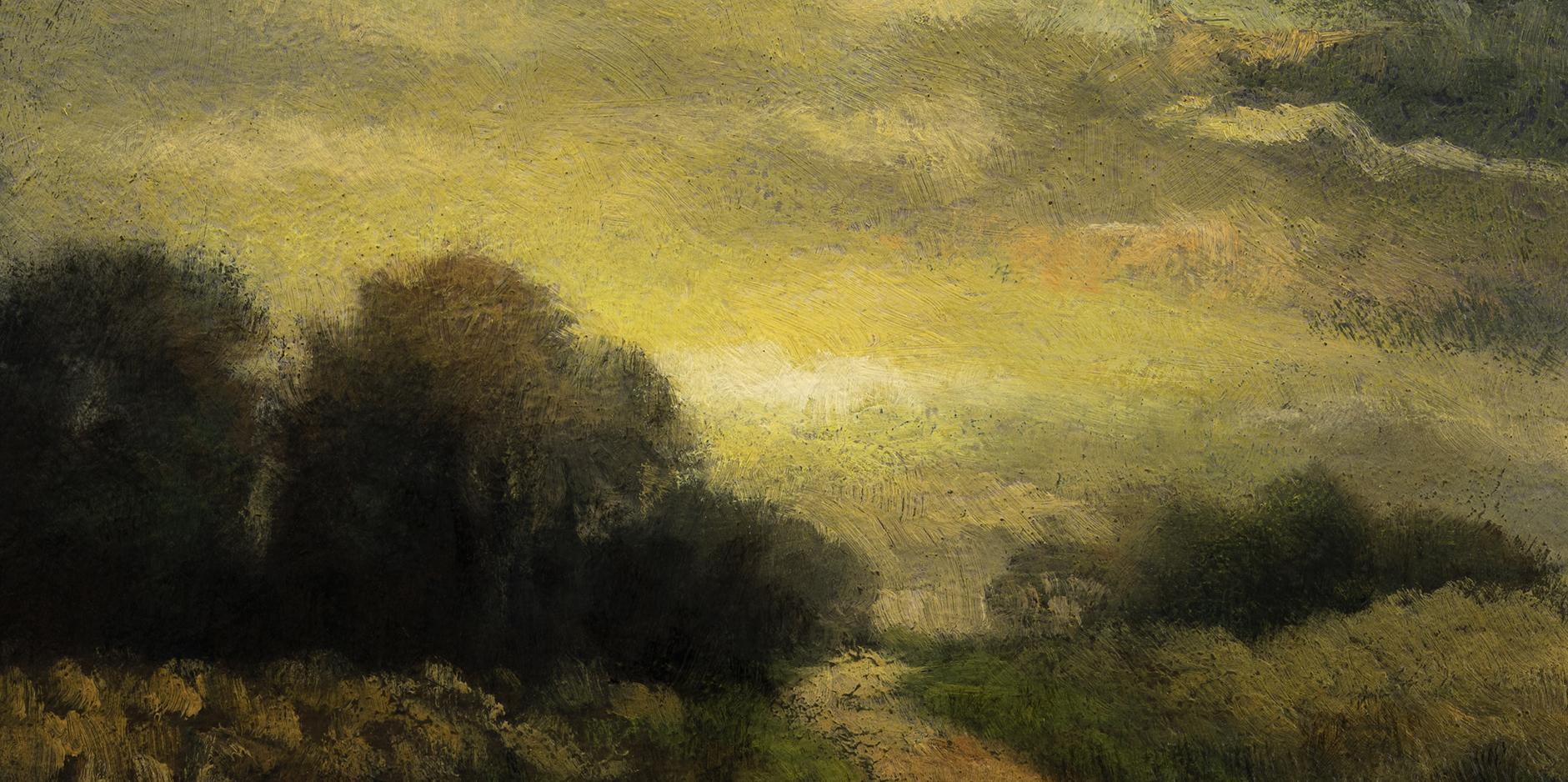 Evening Haze   by M Francis McCarthy - 5x10 (Detail)