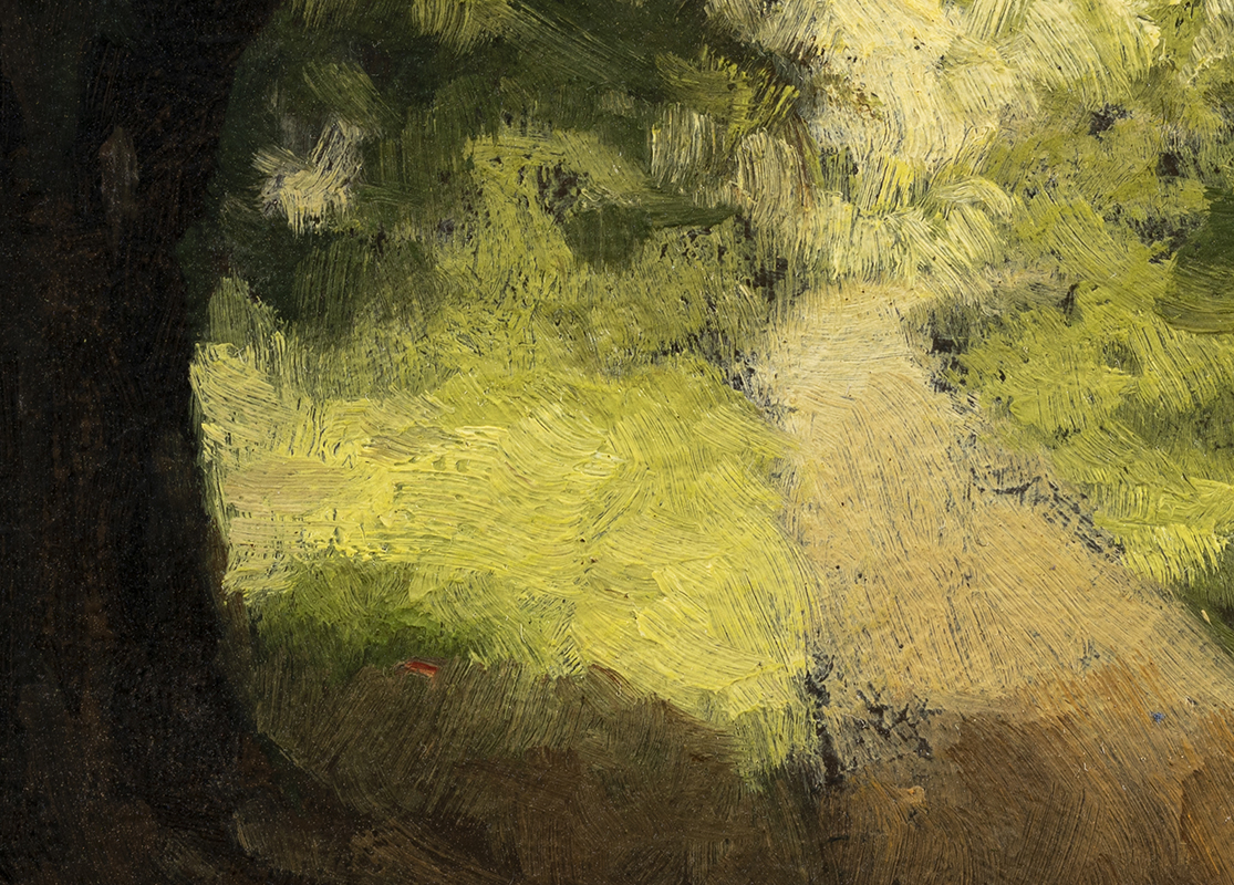 Light through the Trees   by M Francis McCarthy - 5x7  (Detail)